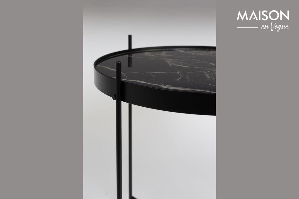 Mesa auxiliar de mármol negro Cupido - 6