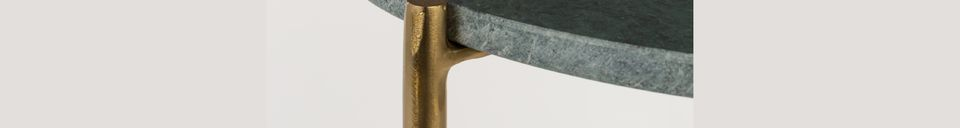 Descriptivo Materiales  Mesa auxiliar de mármol verde Timpa