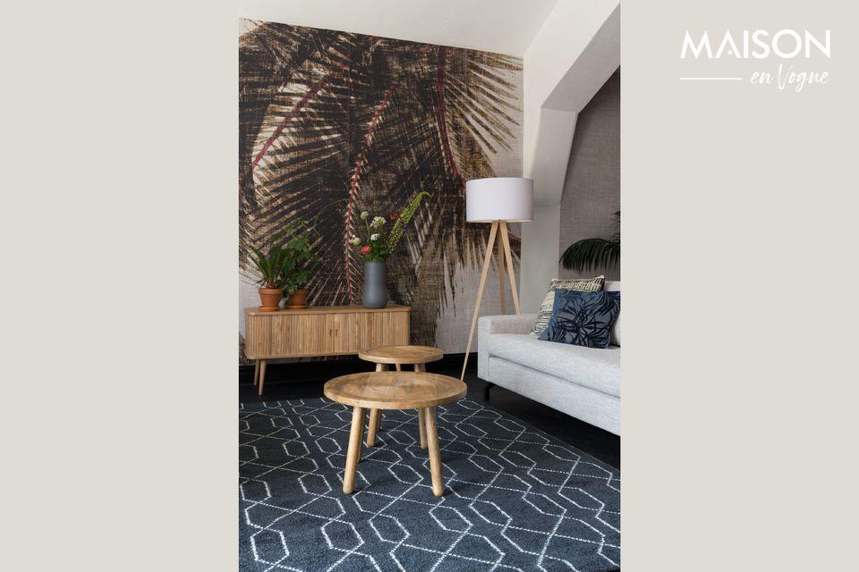 Una mesa auténtica con un diseño natural