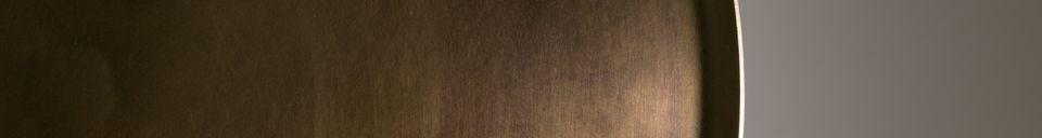 Descriptivo Materiales  Mesa auxiliar Eliot con acabado de latón antiguo