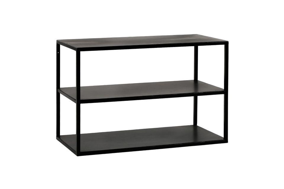 Pomax presenta una mesa de metal lacado negro con tres tapas