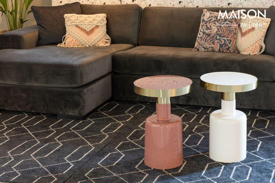 Una mesa atrevida y glamorosa