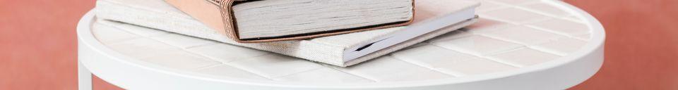 Descriptivo Materiales  Mesa auxiliar Glazed blanco