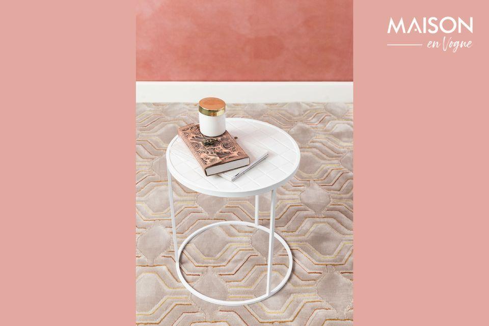 Mesa auxiliar Glazed blanco Zuiver