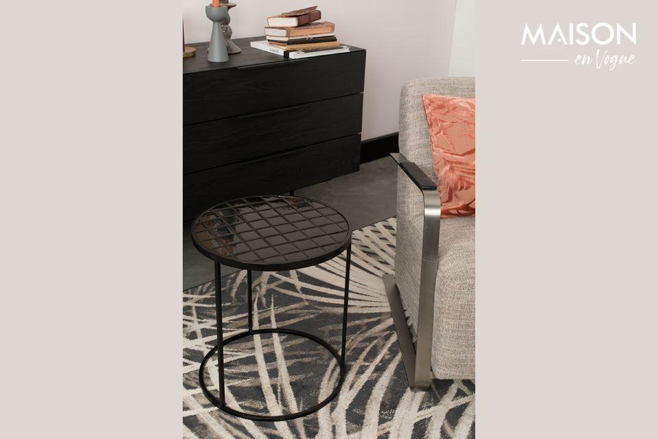 Mesa auxiliar Glazed negro Zuiver