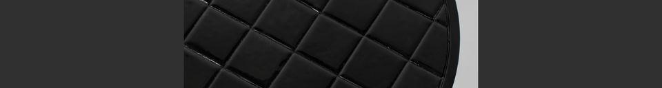 Descriptivo Materiales  Mesa auxiliar Glazed negro
