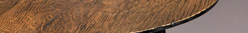Descriptivo Materiales  Mesa auxiliar Pepper marrón 45 centímetros