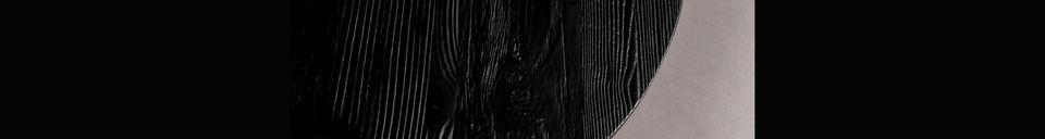 Descriptivo Materiales  Mesa auxiliar Pepper negra 40 centímetros