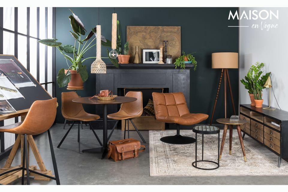 Esta mesa combina un diseño interior moderno y despejado