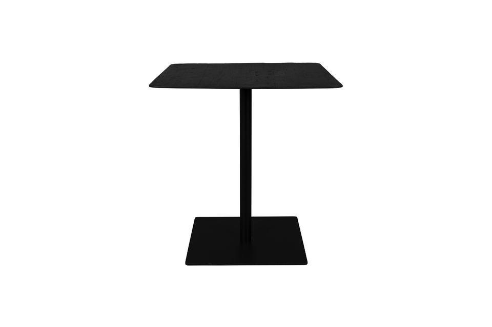 Mesa Bistro Braza cuadrada, color negro Dutch Bone
