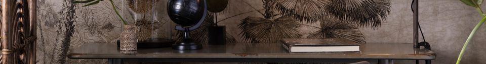 Descriptivo Materiales  Mesa de bar Declan gris