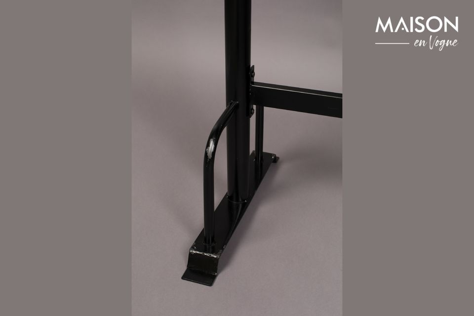 Mesa de barra metálica rectangular