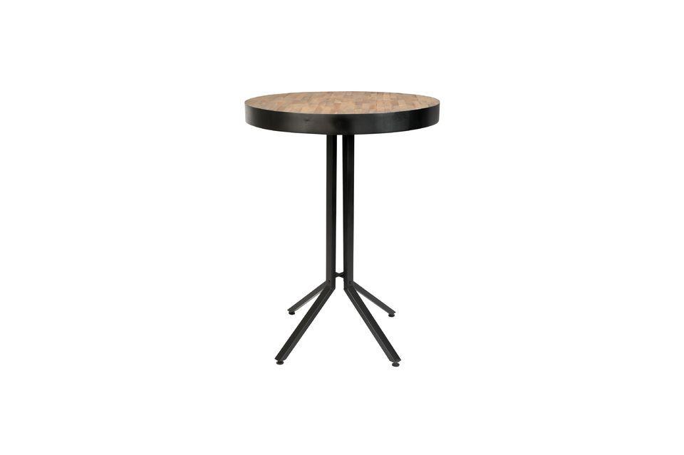 Mesa de bar redonda Maze de acabado natural - 5