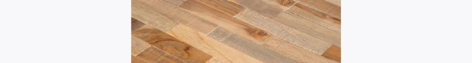 Descriptivo Materiales  Mesa de bar redonda Maze de acabado natural
