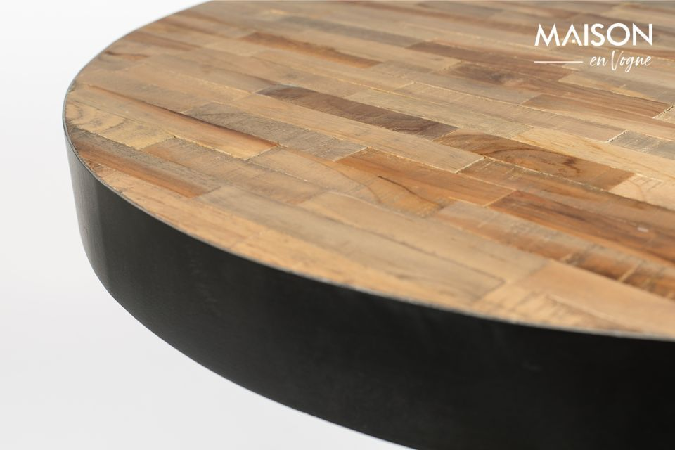 Con esta mesa de bar de laberinto redondo natural