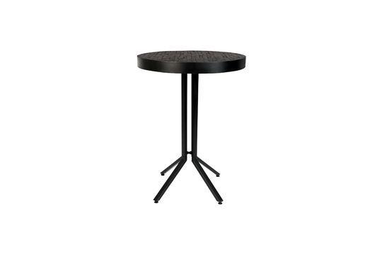 Mesa de bar redonda Maze de acabado negro