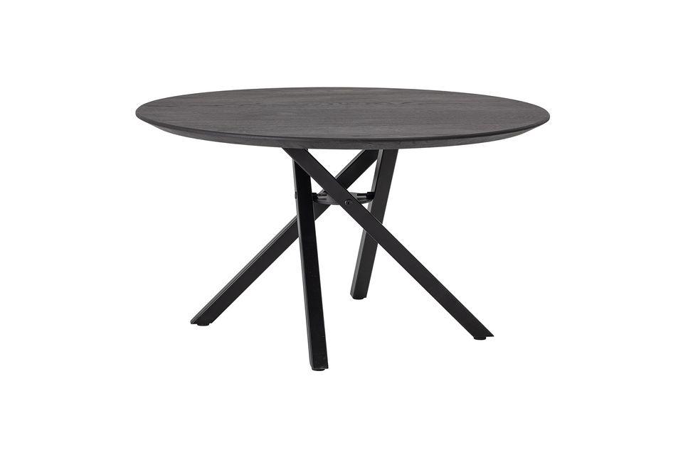 Una elegante y moderna mesa de café