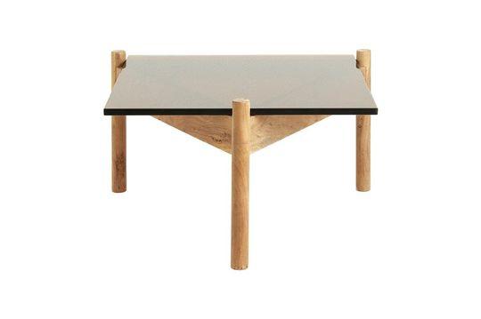 Mesa de centro de madera y cristal Ambre