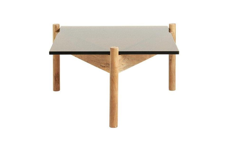 Mesa de centro de madera y cristal Ambre Nordal