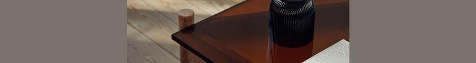 Descriptivo Materiales  Mesa de centro de madera y cristal Ambre