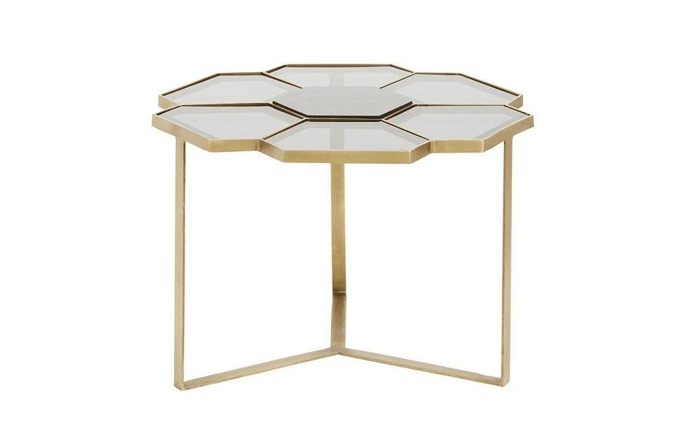 Descubra la variación dorada y negra de esta mesa de café de diseño