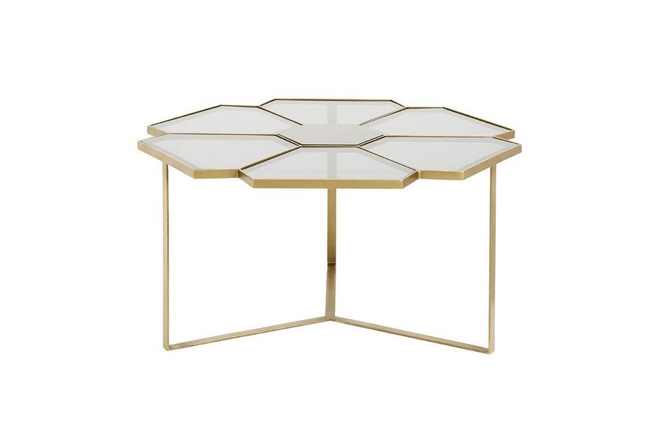 Esta mesa de café contemporánea diseñada por la marca Nordal ofrece un efecto estético singular