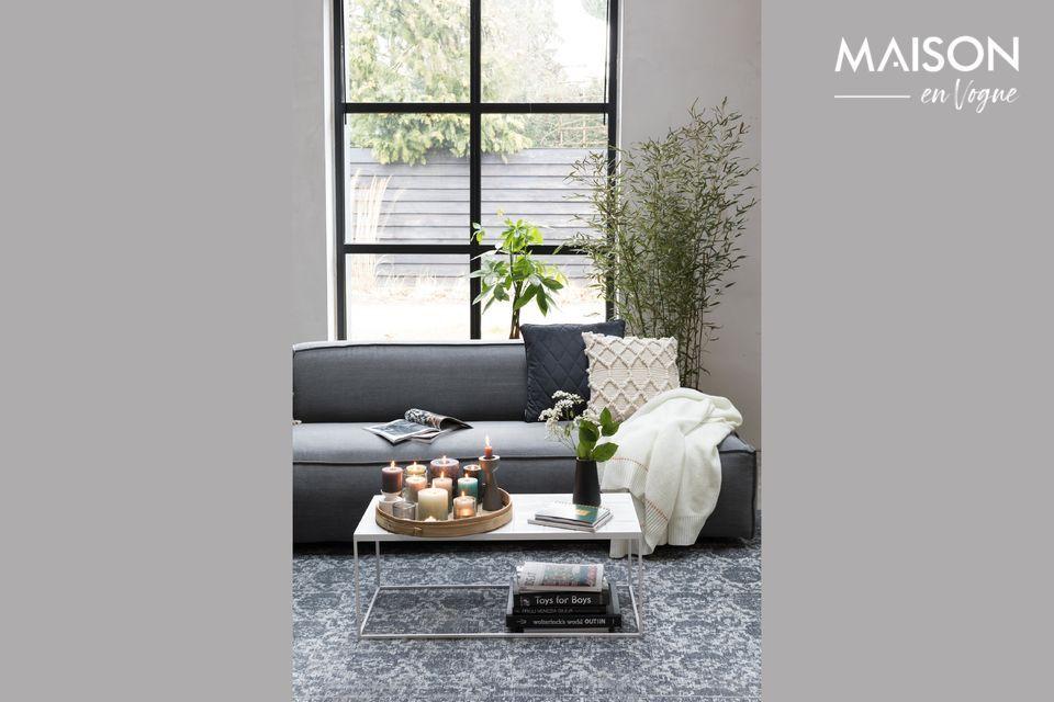 Mesa de centro Glazed blanco Zuiver