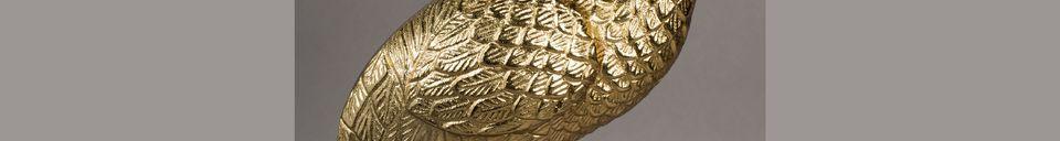 Descriptivo Materiales  Mesa de centro Grue oro