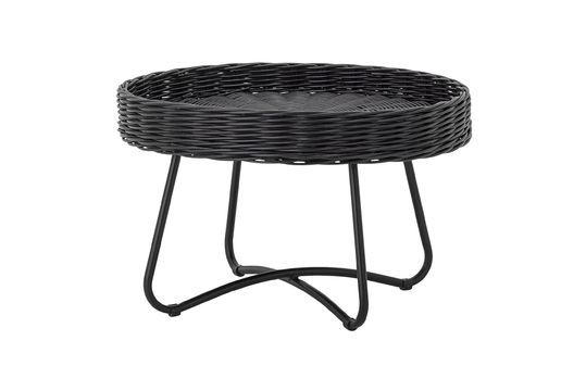 Mesa de centro Hattie en ratán negro Clipped