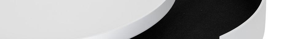Descriptivo Materiales  Mesa de centro Tapa en pino blanco