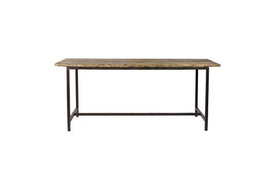 Mesa de comedor Rough en madera y metal Clipped