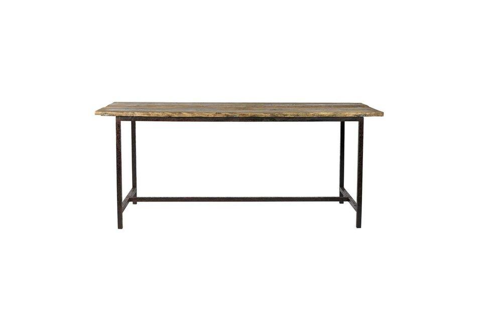 Mesa de comedor Rough en madera y metal Nordal