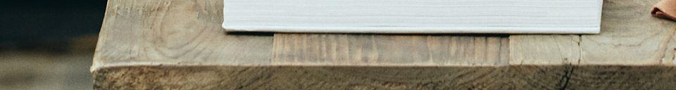 Descriptivo Materiales  Mesa de comedor Rough en madera y metal