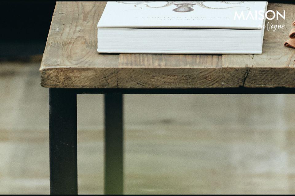 Mesa de comedor Rough en madera y metal - 5