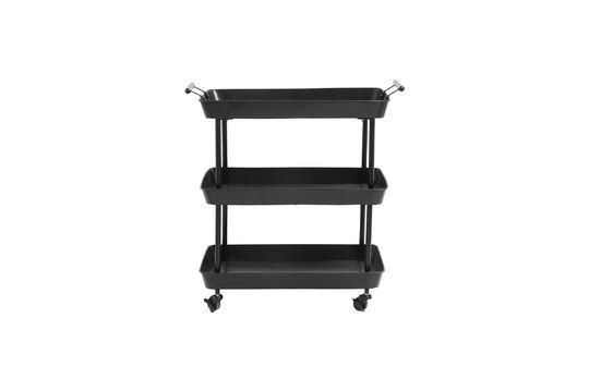 Mesa de hierro negro Olmiccia con ruedas Clipped
