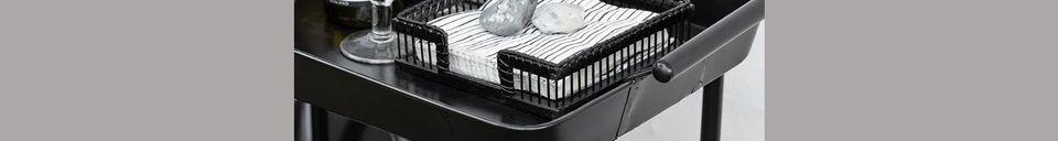 Descriptivo Materiales  Mesa de hierro negro Olmiccia con ruedas