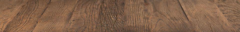 Descriptivo Materiales  Mesa de mostrador Braza cuadrada de color marrón
