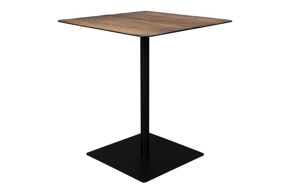 Mesa de mostrador Braza cuadrada de color marrón - 5