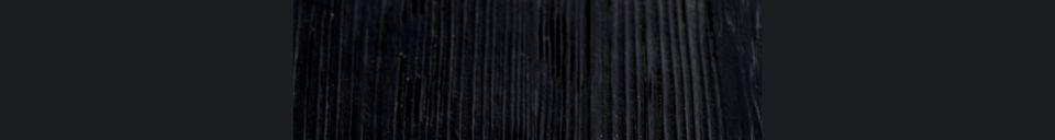 Descriptivo Materiales  Mesa de mostrador cuadrada Braza color negro