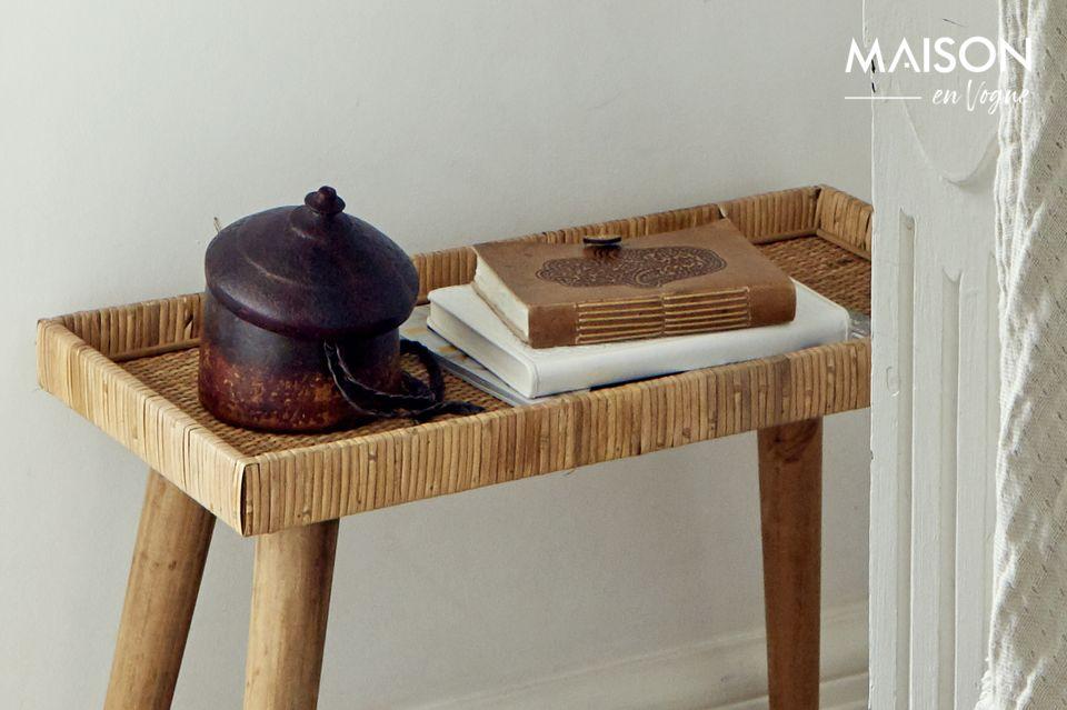 Esta combinación de materiales naturales le da un aura de exotismo y ecología