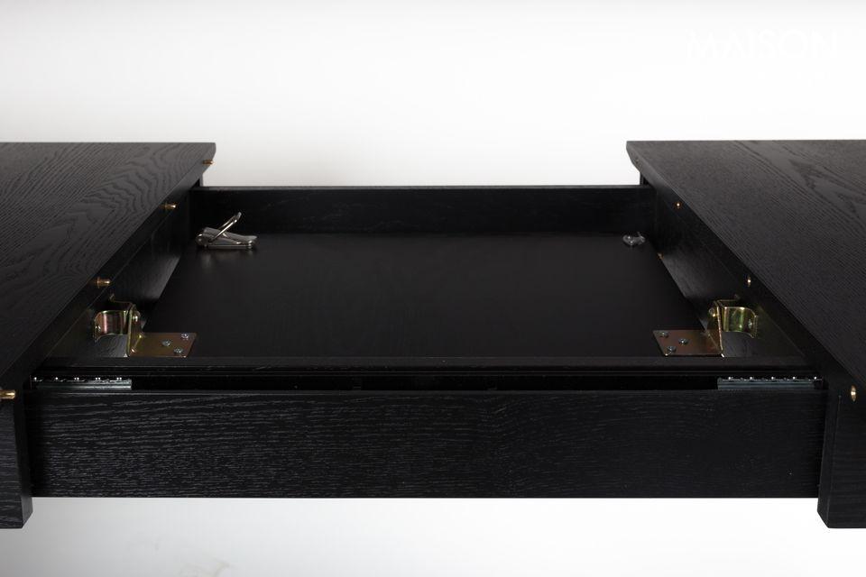 Esto es lo que Zuiver ofrece con la mesa Glimps, hecha de chapa y ceniza negra sólida