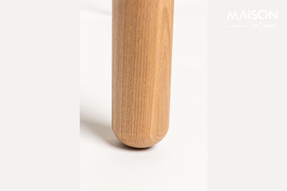 Su tablero de MDF enchapado en ceniza de 18 mm con un borde de 10 mm y patas de ceniza maciza de 45
