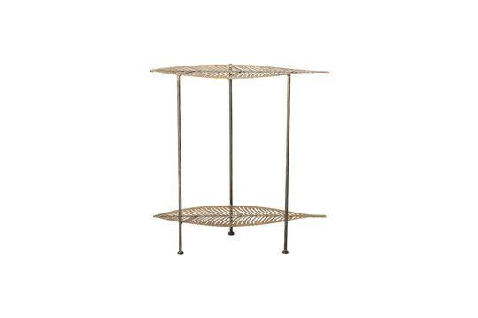 Mesa lateral de metal dorado Silja