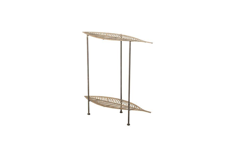 Mesa lateral de metal dorado Silja - 3