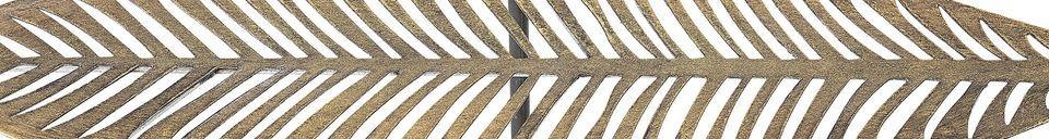 Descriptivo Materiales  Mesa lateral de metal dorado Silja