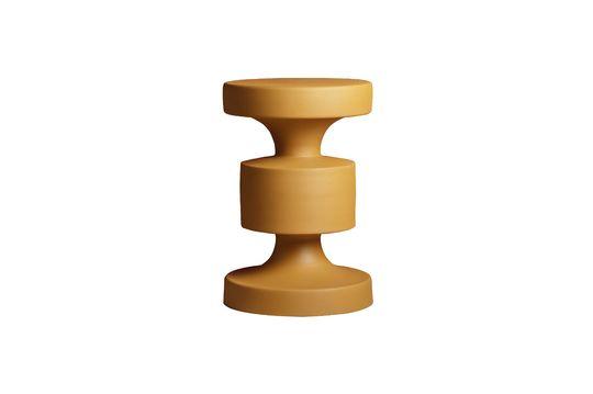 Mesa lateral de metal Forms en color de mostaza