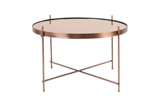 Mesa lateral grande de cobre Cupid Clipped