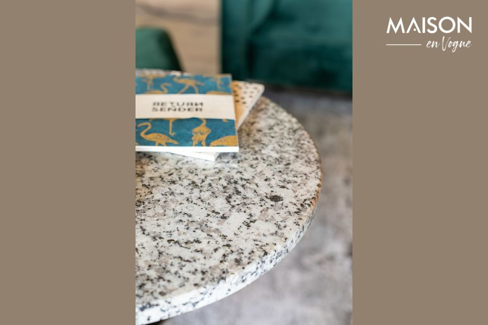 Mesa de pedestal de mármol blanco