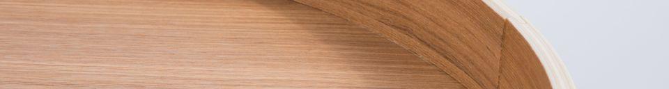 Descriptivo Materiales  Mesa lateral Oak Tray