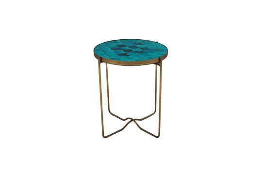 Mesa lateral Séguret de cerámica azul Clipped